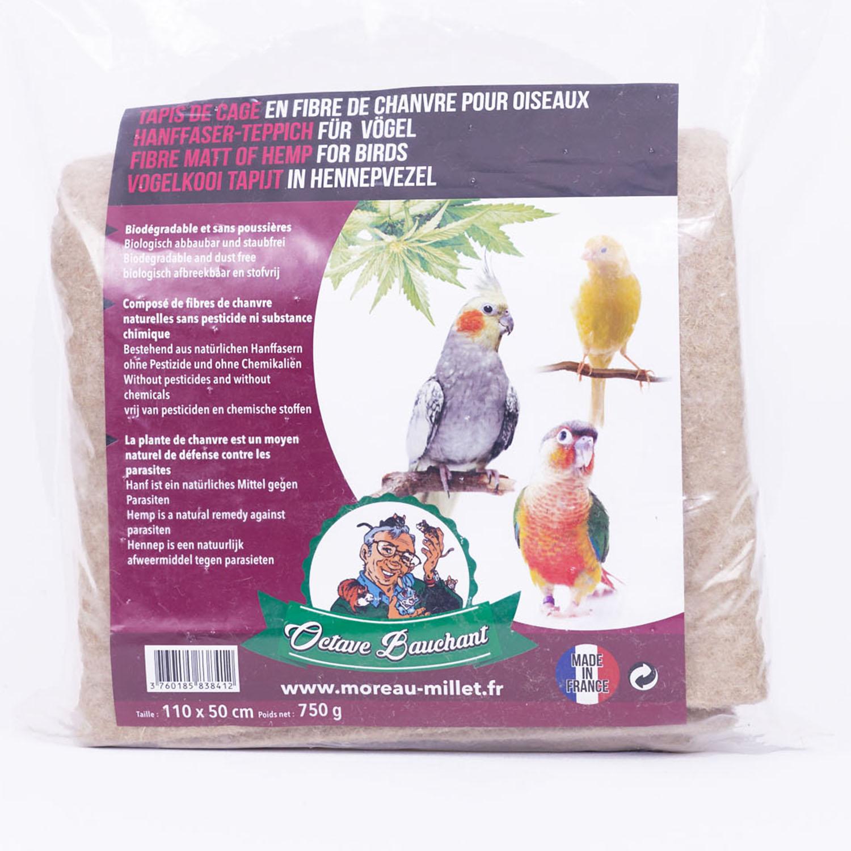 Tapis de cage oiseau en fibre de chanvre